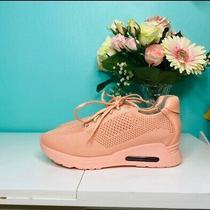 Gunmetal Sneakers Sz 8.5 Blush Photo