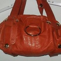 Gustto Baca Orange Small Shoulder Bag Lamb Leather Nwt Photo