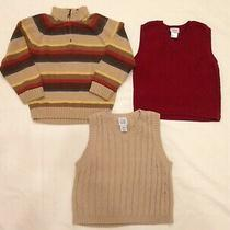 Gymboree 1/4 Zip Sweater Lot of 3 Boy's Size 4 Sweaters Two Sweater Vests Gap Photo