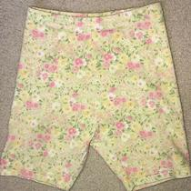 Gymboree 2006 Light Green Floral Garden Bloom Bike Shorts 9 Vguc Photo