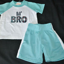 Gymboree Beach Bulldog White Lil'bro Shirt Blue Shorts 3-6 Months Nwt Boys Photo