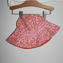 Gymboree Colorful Floral Spring Check Bow Mothers Day Easter Sun Bucket Hat 8-9 Photo