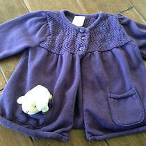 Gymboree Cuddly Lambs Purple Sweater With Lamb- Size 12-18 Months Photo