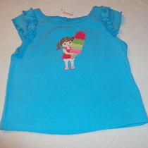Gymboree Girl Top Girl Holding Ice Cream Cone Size 6-12 Months Nwt Photo