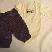 Gymboree Girls 0-3 Month Classic Holiday Bodysuit Cuddly Lambs Pant Outfit Nwt  Photo