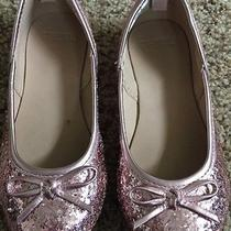 Gymboree Girls Blushing Swan Pink Sparkle Ballet Flats Holiday Size 9 Worn 1x Photo