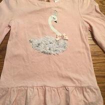 Gymboree Girls Size 6 Blushing Swan Long Sleeve Pink Shirt Photo