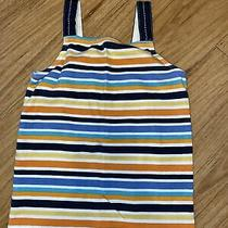 Gymboree Girls Size 7 Tropical Bloom Tank Top Striped Blue Orange  Photo