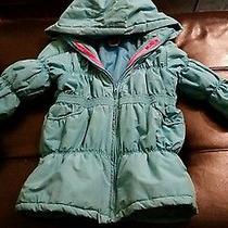 Gymboree Girls Winter Blue Winter Puffer Jacket   7 8 Photo