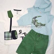Gymboree Golf Pro Alligator Hoodie Golf Bag Polo Shorts 3 Pce Set 18-24 Mo/2t Photo