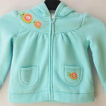 Gymboree Growing Flowers Aqua Flower Snail Hoodie Sweater Sz 3-6 Months Nwt Photo