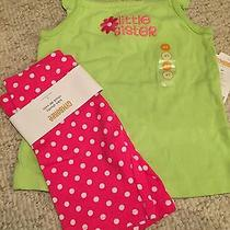 Gymboree Ice Cream Sweetie Little Sister Shirt 4t Nwt Dot Bike Shorts 4 Photo
