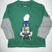 Gymboree North Pole Express Green Holiday Train Tee Shirt Top Boys 2t New Nwt Photo