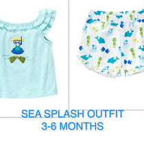 Gymboree Nwt Sea Splash Outfit 3 6  Months Photo