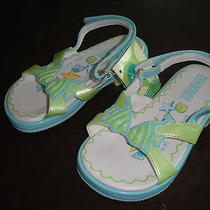 Gymboree Splash Angel Fish Teal Aqua Mint Green Sandals Nwt 8 Shoes  Photo