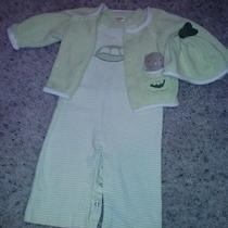 Gymboree Sweet Pea 3pc Set Boys Romper/sweater/ Hat 3-6 Months Euc Easter Photo