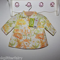 Gymboree Whimsical Floral Print Spring Mother Day Easter Swing Coat Baby 3-6mos Photo