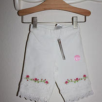 Gymboree White Pink Floral Rose Detail Eyelet Tier Mothers Day Easter Pants 3-6m Photo