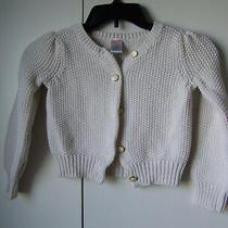 Gymoree Holiday Shine Ivory/gold Sparkly Christmas Cardigan Sweater Sz S 5-6 Photo