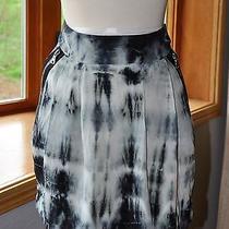 Gypsy 05 L Mini Skirt Tie Dye 100% Silk Rainbow Zippers Casual Flirty  Photo