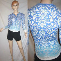 Gypsy 05 Sheer Burnout Baroque Boho Art Nouveau Ombre Top Blouse Xs Photo