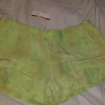 Gypsy 05 Silk Tie Dye Dolphin Hem Shorts Medium Green Photo