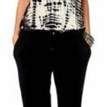 Gypsy 05 Tie Dye Soft Bamboo Jumpsuit Small Black/white Photo