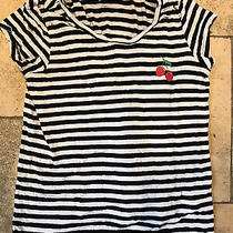 H and M Mama Maternity/nursing Top Size M Black and White Stripe Photo