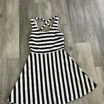 H and M Nautical Dress Navy White Stiped New Size Small H & M Photo
