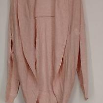 H by Halston Sweater L Shawl Collar Long Sleeve Cocoon Cardigan Heather Blush Photo