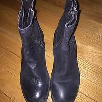 H by Hudson Black Leather Booties 37 Photo