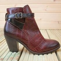 H by Hudson Bordo Textured Leather Buckle Chelsea Boots Calf Shoes 7 40 New Photo