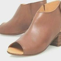 H by Hudson Tan Brown Iris Leather Sling Peep Sandals Bootie Shoes Heels 6 39 Photo