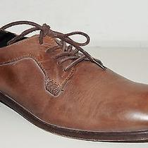 H by Hudson Tan Drum Dyed Leather Lace-Up Shoes Sz Eur 43 / Us 10 Photo
