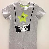 H & M Baby Boys Camera Front Print Romper Size   Months Photo