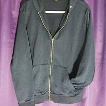 h&m Basic Navy Blue Zip Up Hoodie Womans Medium Photo
