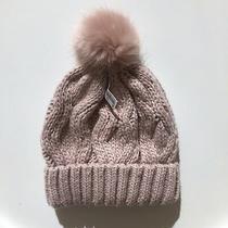 h&m Beanie Hat Pom Pom Knit Wool-Blend Blush Pink Rose New W/tags Photo