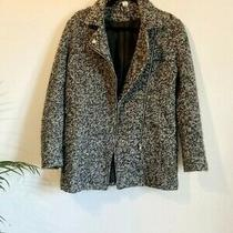 h&m  Black and Grey Flecked Wool Blend Boucle Jacket Size Small (810) Photo