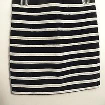 h&m Black and White Striped Straight Pencil Women's Skirt - Sz 4 Photo