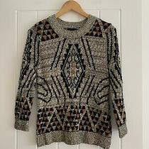 h&m Black & Brown Pattern Jumper Size S Photo