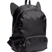 h&m Black Cat Ear Backpack  Photo
