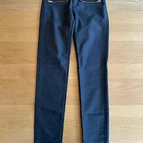 h&m Black Coated Skinny Jeans Size 12 Photo