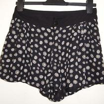 h&m Black Daisy Floral Chiffon Silky Formal Culotte Sexy Fit Hot Pants Shorts 10 Photo