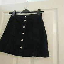 h&m Black Denim Jean Skirt Size 8 Photo