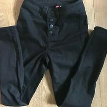 h&m Black Fitted Trousers / Jegging-Type Jeans Size 4 Photo