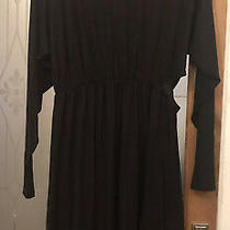 h&m Black Jersey Asymmetric Dress With Cut Out Side and Tie Back Size Xl Bust52 Photo