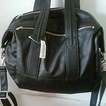 h&m Black Leather Bag Genuine Leather Photo