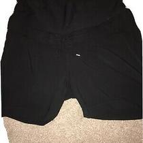 h&m Black Maternity Shorts Size 14 Excellent Condition   Photo