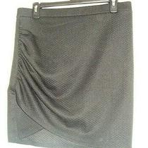 h&m Black Stretch Knit Quilted & Gathered Skirt Sz Medium (19 Inch Length) Photo