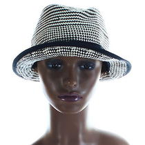 h&m Black White Fedora Woven Straw Trilby Hat Indie S Photo